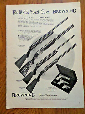 BROWNING DOUBLE AUTOMATIC 12 Gauge Shotgun 1958 Ad - $9 95   PicClick