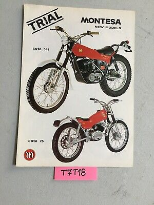 Montesa Cota 25 49 74 123 247 348 trial prospectus catalogue publicité brochure