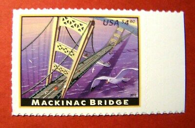 4438 Mackinac Bridge Stamp Face Value $4.90 Collector Card Mailed