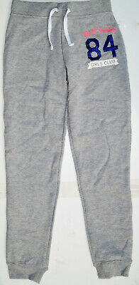 Girl's Ex Store Grey Jogging Trousers Tracksuit Bottoms