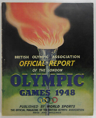 Bear British Official Report of the London Olympic Games 1948 Olympische Spiele