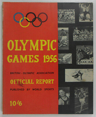 Bear British Olympic Association Official report of the Olympic Games 1956