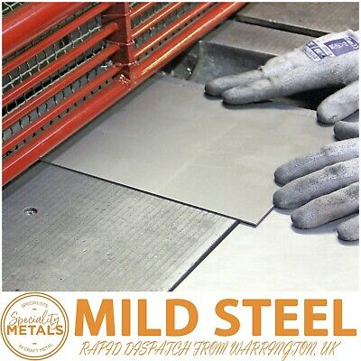 Mild Steel Sheet Plate 0.5mm to 3mm Thickness Guillotine Cut & 1st Class Post