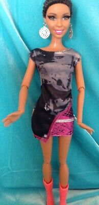 Barbie Doll Clothing Outfit 2 Piece Dress Sparkle Girlz & Boots NWOT