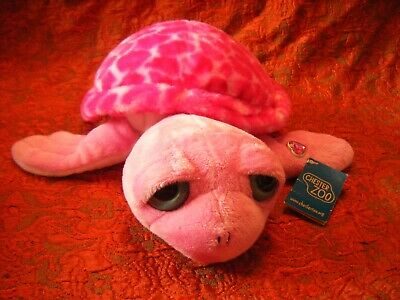"""Chester Zoo Pink Turtle Soft Toy 13.5"""" approx with tag  VGC (B53)"""