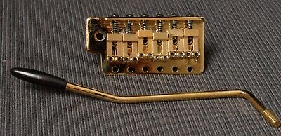 Lot# LP-101 New Gold Bridge And Tremolo Kit FOR Stratocaster