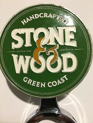EXTREMLEY RARE! METAL Stone & Wood Green Coast Pale Lager Beer Decal Tap Badge