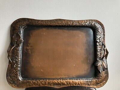 Vintage Arts And Crafts Copper Tray