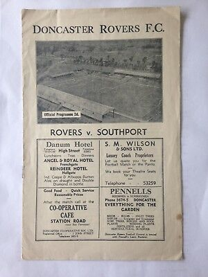 1946/7 Doncaster Rovers V Southport(Div 3 North)