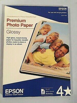 "Epson Premium Glossy Photo Paper (5"" x 7""), 15 Sheets #S041464"