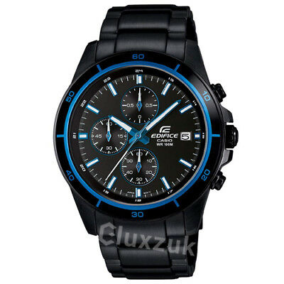 Casio Edifice EFR-526BK-1A2 Chronograph Display Men's Watch New Brand