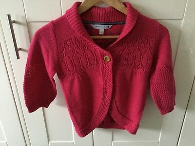 Fat Face Girls Pink 3/4 Sleeve Cardigan Age 11-12 Years. Great Condition.