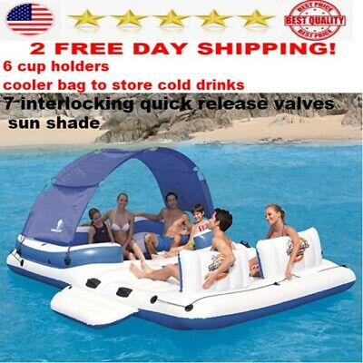 Bestway floating island 6 Person Pool Lake Raft river water adults inflatable
