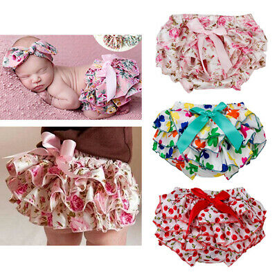 Baby Stain Ruffle Bloomers Cute Baby Diaper Cover Newborn Summer Floral Shorts