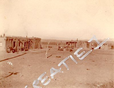 Historic Albumen Image Old West New Mexico Isleta Pueblo Indian
