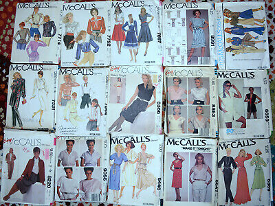 "1970's 80's McCalls Brand Sewing Patterns Womens 14 size 36"" Bust U-Choose"