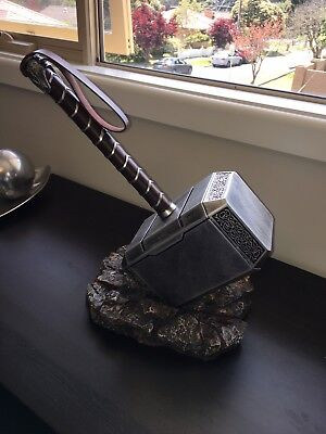Thor Hammer And Base Set Mjolnir Marvel Avengers Collectible Display Gift 1:1