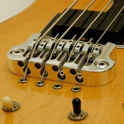 NEW Hipshot SuperTone 3-Point Replacement Bridge for 4-String Gibson Bass CHROME