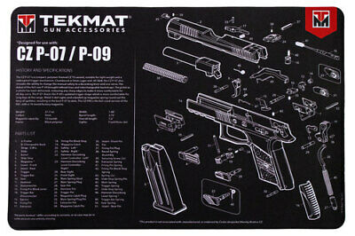 FOR GLOCK Armorers Gun Cleaning Bench Mat Exploded View Schematic