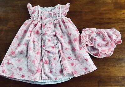 9f5265aa74 Baby Girls Boutique MAGGIE AND ZOE dress W  Bloomers 12 Months 12m Pink  Flowers