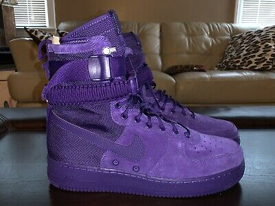 NEW NIKE SF AF1 Air Force 1 Size 9 One High Boot Purple