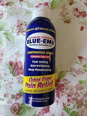 Blue Emu Continuous Pain Relief Spray SEALED Exp. 7/2020. Free shipping