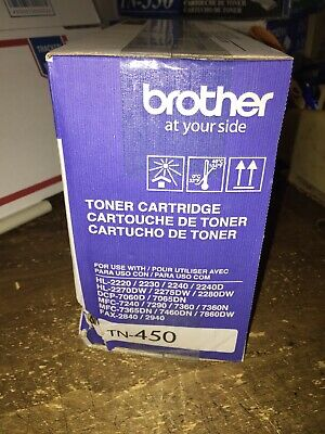 Genuine Sealed OEM Brother TN-450 (TN450) High Yield Toner Cartridge; Exp:2018
