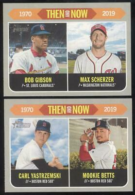 2019 Topps Heritage Baseball - Then And Now - You Pick