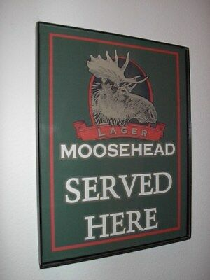 Moose Head Canada Beer Bar Tavern Framed Advertising Print Man Cave Sign
