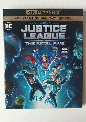 Justice League Vs The Fatal Five- 4K Blu Ray- Brand New Sealed