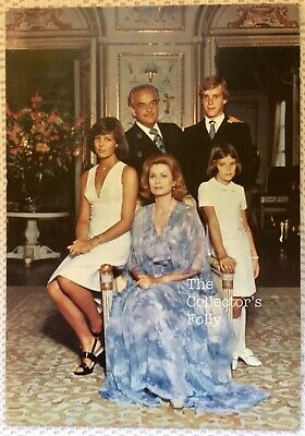 Vintage Postcard Princess Grace Kelly Monaco Royal Family Postmark Monaco 1975