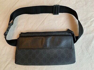 e7a4f617405 F10 GUCCI Authentic GG Supreme Bumbag Fanny Pack Waist Pouch Belt Bag Black