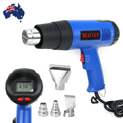 220V 1800W LED Electric Heat Gun 60-650 Degree Temperature Adjustable Hot Air OZ