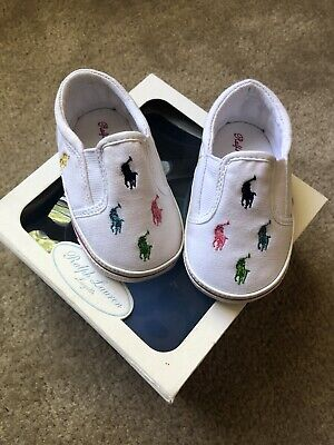 website for discount shop best sellers buy POLO RALPH LAUREN Infant Girl Shoes White Multi Color Pony ...