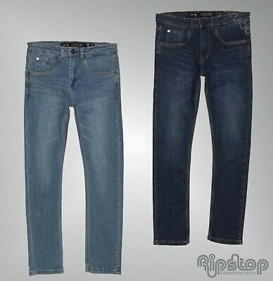 Boys Ripstop Classic Belt Loops Skinny Fit Jeans Sizes Age from 5 to 14 Yrs