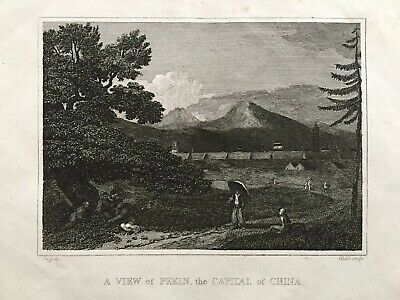1807 Antique Print; View of Peking (Beijing), China after W.M. Craig
