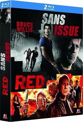Coffret 2 Blu Ray  //  RED + SANS ISSUE  //  Bruce Willis  /  NEUF cellophané