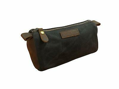 Toiletry Bag for Men Small Dopp Kit Vintage Cosmetic Makeup Bag Genuine Leather