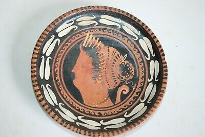 ANCIENT GREEK HELLENISTIC POTTERY STEM PLATE 3rd CENTURY BC