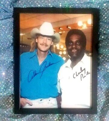 Alan Jackson / Charlie Pride hand-signed photo (Opry backstage)  one-of-a-kind p