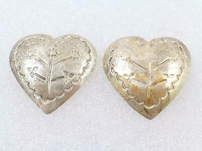 4ae53a7a963 AUTHENTIC GUCCI STERLING Silver 925 Logo Heart Stud Earrings ...