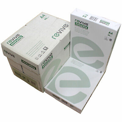 A4 Revive Everyday 80gsm White Office Recycled Paper Printer Copier Laser Ink