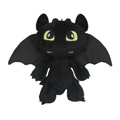 Toy Plush 40cm Anime Fury How to Train Your Dragon Toothless Plush Doll - Black
