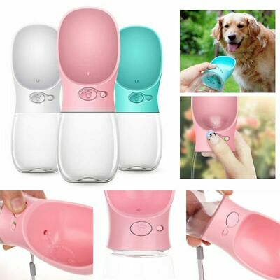 Portable Pet Dog Water Bottle For Small Large Dogs Travel Puppy Cat Feeder New