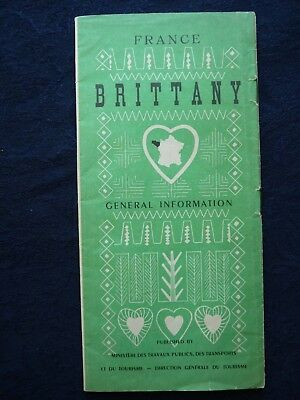 1950s Vintage Guide Brittany France Town Guides Railway Celebrations