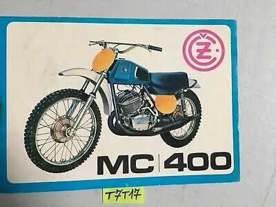 CZ motocross MC400 MC 400 73 prospectus catalogue publicité brochure moto cross