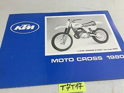 KTM gamme cross 1980 125RV 240MC 420MC prospectus catalogue publicité brochure