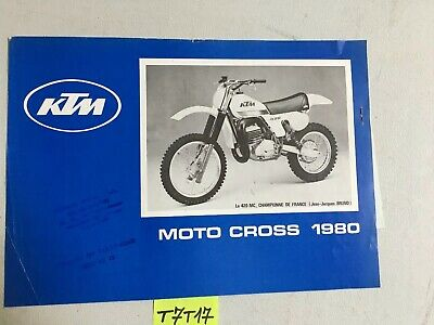 KTM 125 RV 240 MC 420 MC 1980 moto-cross prospectus catalogue publicité + tarif