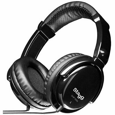 Stagg SHP-5000h - Auriculares estéreo (supraaural), color negro