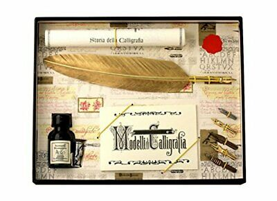 Coles Calligraphy - Set de pluma y plumines, color dorado